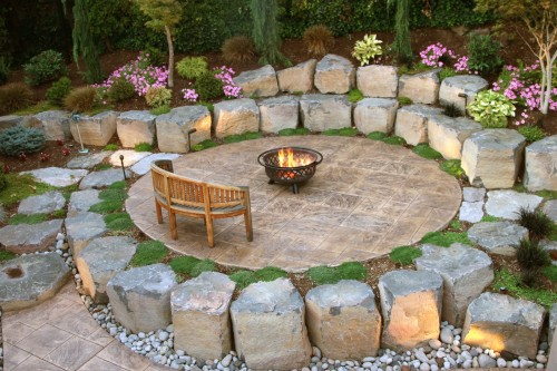 pavers & firepit by GRO