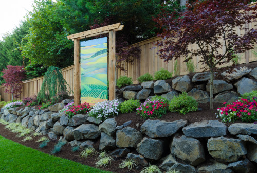 Outdoor living ideas for sloped undersized yards gro - What to do with a sloped yard ...